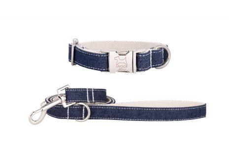 WHITE JEAN koppel & halsband, Krom