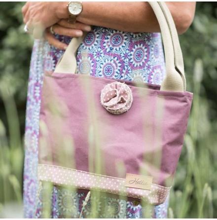 Handväska - Hettie Canvas & Lavender Spot