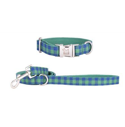 G/B CHECK koppel & halsband, Krom